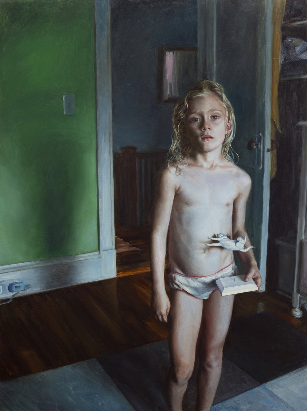Moonstone,  2015 oil on linen on aluminum panel, 46 x 34 1/2 inches