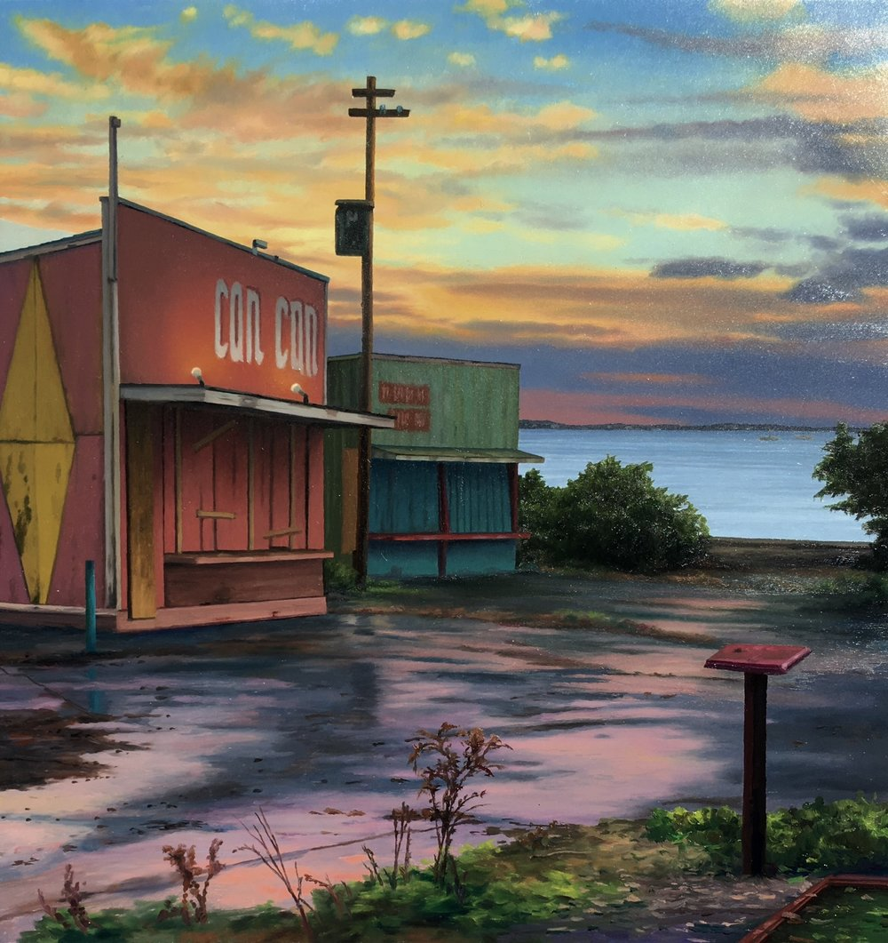Arcade by the Sea , 2016 oil on panel, 10 5/8 x 10 inches