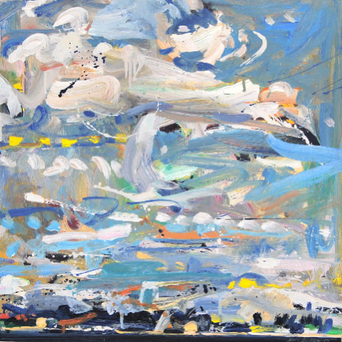 Sky Over Mt. Desert,  2010 oil on panel, 24 x 24 inches