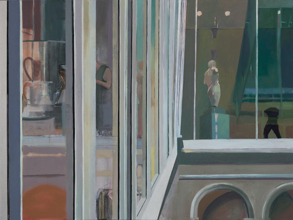 Internal Facade , 2017 mixed media on panel, 36 x 48 inches