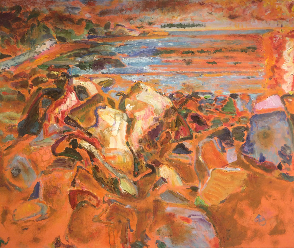 Orange Light,  2006 il on canvas, 30 x 36 inches