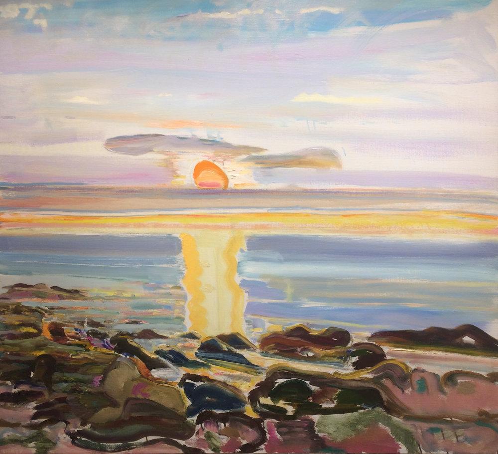 The Sun, 1980 il on canvas, 40 x 44 inches
