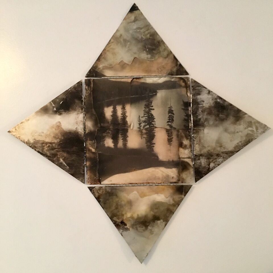 The Star,  2015 mixed media, 22 x 22 inches