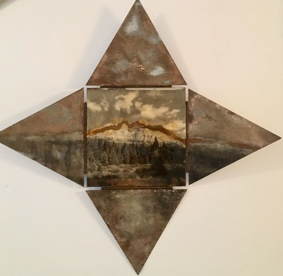 ROC,  2015 mixed media, 23 x 23 inches