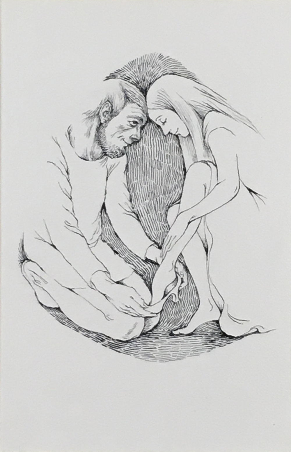 Cinderella,  1970-71 nk on paper, 16 x 1 1/8 inches