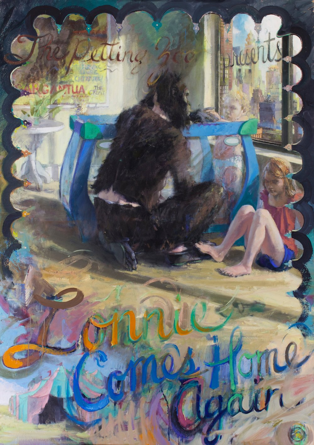 Lonnie Comes Home Again, 2017 oil on canvas on panel, 68 x 48 inches