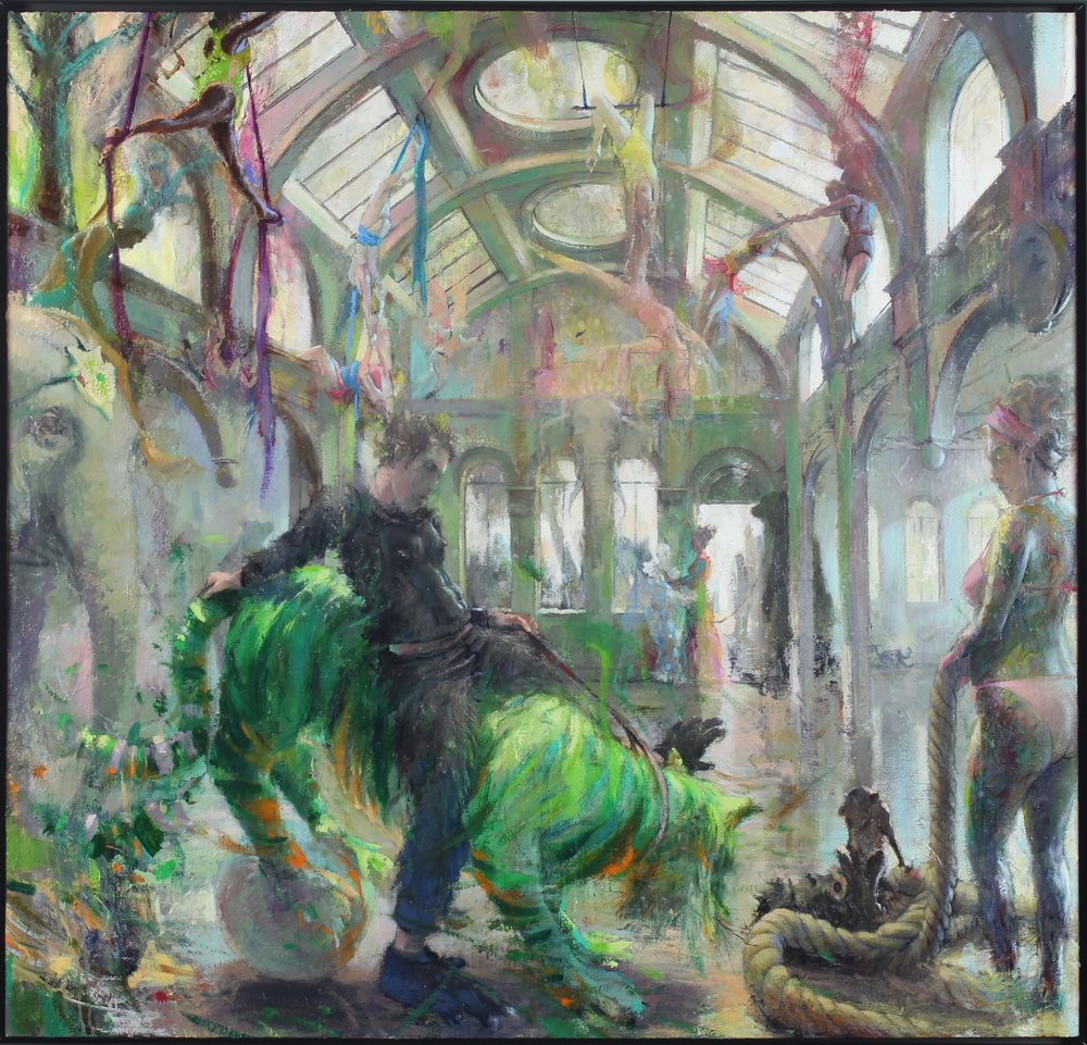 The Green Tiger, 2017 oil on canvas, 44 x 46 inches