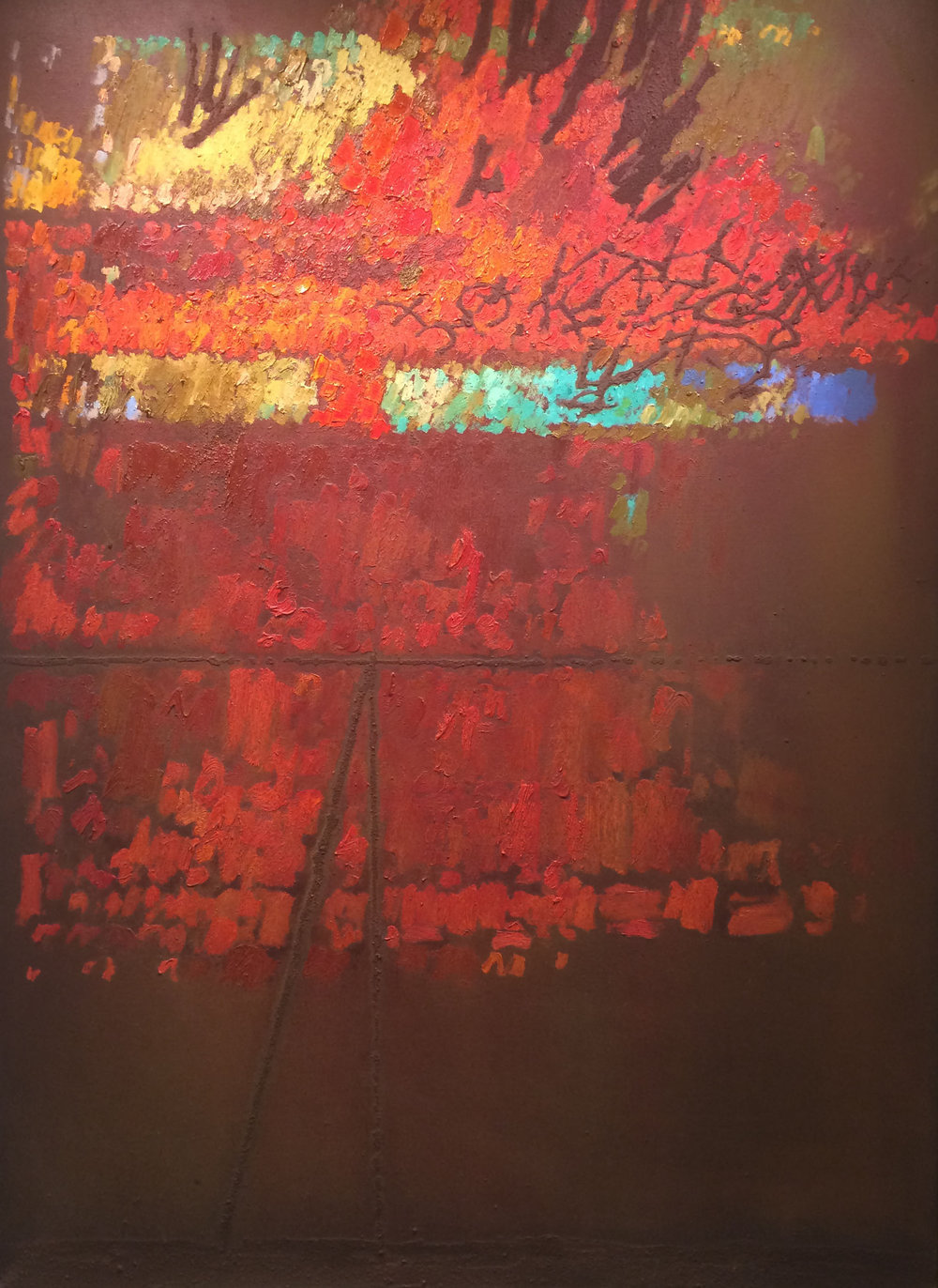 Image , 1961 oil & sand on canvas, 60 x 44 inches