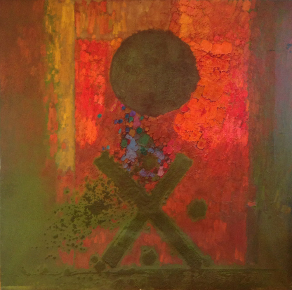 untitled, 1968-70 oil & sand on canvas, 60 x 60 inches