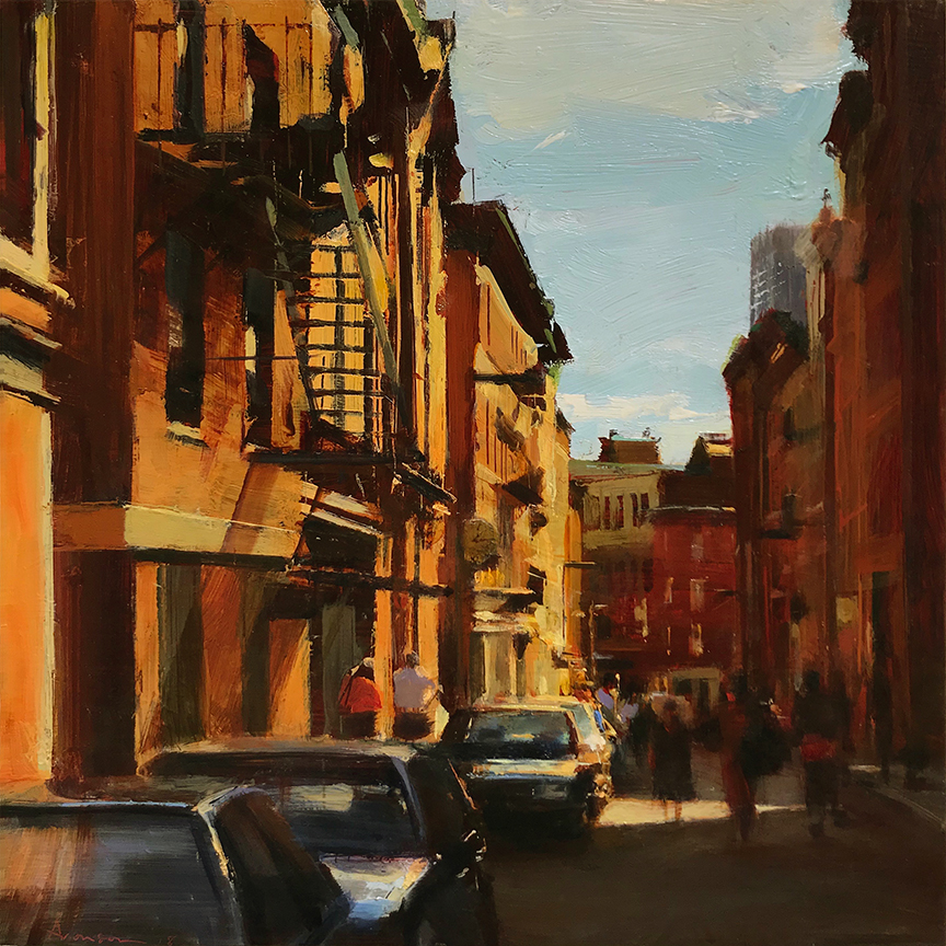 North End , 2018 oil on panel, 12 x 12 inches