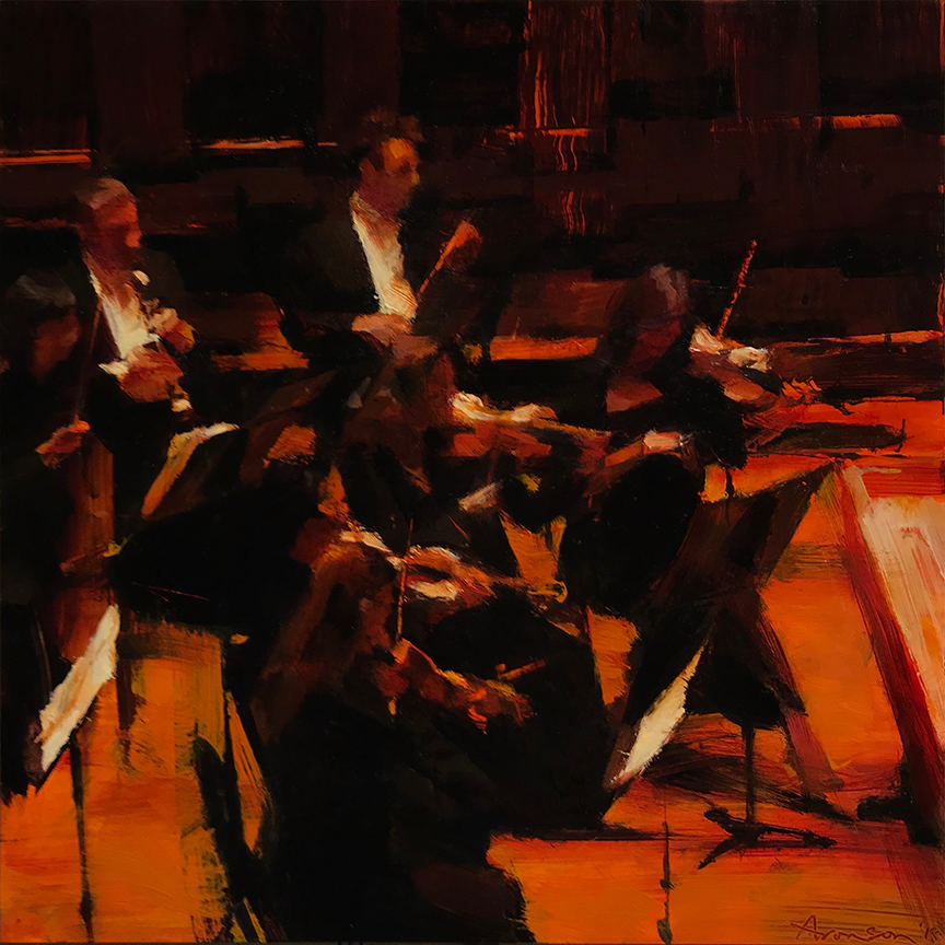 Symphony Hall , 2018 oil on panel, 12 x 12 inches