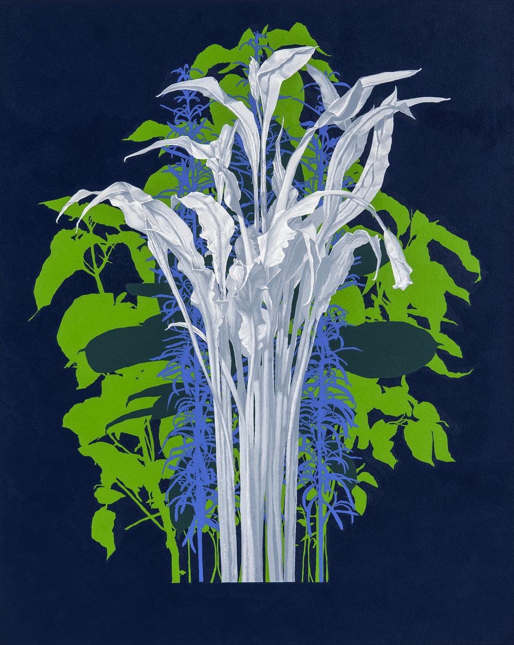 Calla Lily , 2018 oil on canvas, 40 x 32 inches