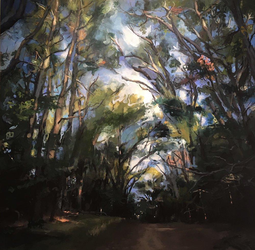 Majesty,  2018 acrylic on panel, 30 x 30 inches