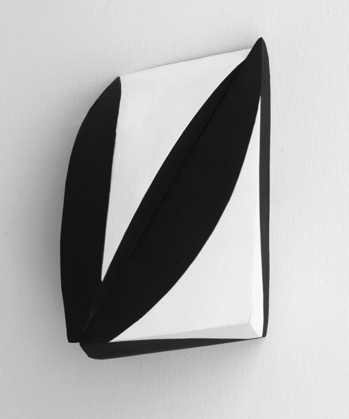 Hugh O'Donnell  In A Folded Leaf 3 , 2017 acrylic on wood, 6 x 4 1/2 x 2 1/2 inches
