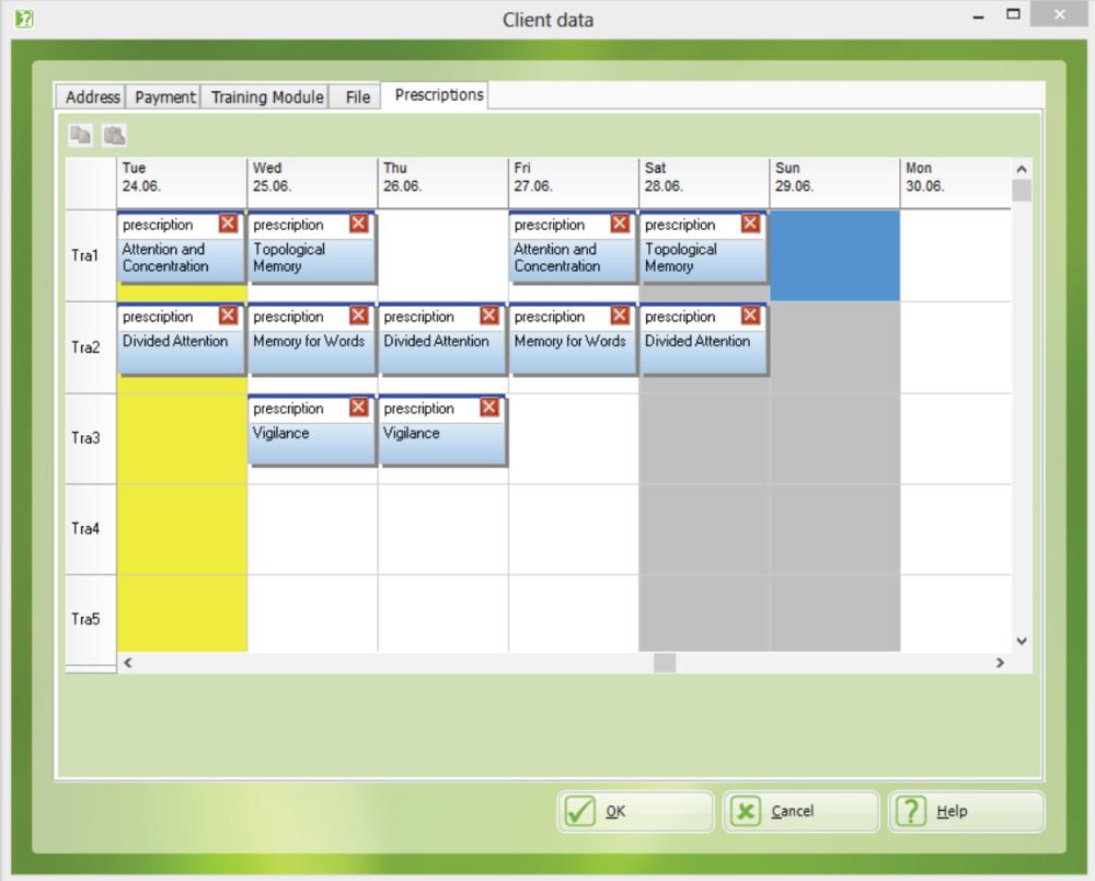 training schedule