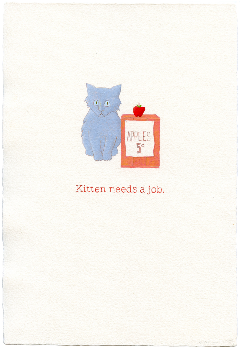 kitten needs a job
