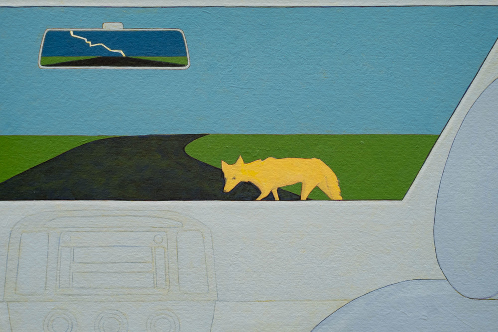 Denial (coyote crossing)  Detail 1