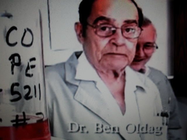 Mar. 15, 1931-Dec. 2, 2010 The late Doctor Ben Oldag working in the original laboratory on Old Ox Road in Spring, Texas March 2009.