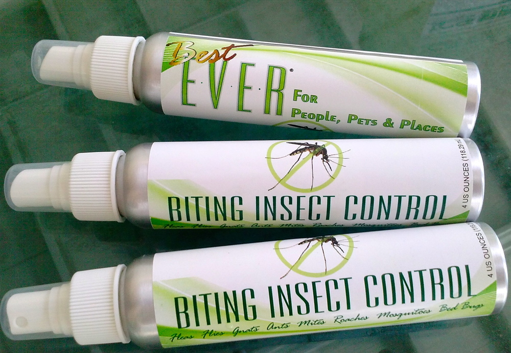 Recent figures indicate that there are more than 200 million insects for every human on the planet! Repel biting insects including mosquitoes, fleas, ticks, chiggers, no-see-ums, gnats etc. without toxic chemicals. Be prepared with a 4-ounce Spritzer of our natural bug repellent spray.