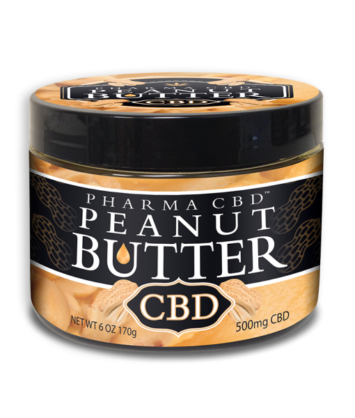 Size: 6oz 170g Hemp CBD content 500mg  Nutritional Facts: Adult Serving Size: 1 Tablespoon Serving per Jar: 4-12 doses Calories: 100 Calories from fat: 70  Percent Daily Values (DV) are based on a 2000 calorie diet  Amount/Serving (DV%) Total Fat: 12g (18%) Sat. Fat: 2.5g (12%) Cholesterol: 0mg (0%) Sodium: 250mg (10%) Total Carb: 15g (5%) Dietary Fiber: (2%) Sugars: 4g Protein: 8g Iron: (4%) Niacin: (25%)  Ingredients: Peanuts, hemp CBD hemp oil, corn syrup solids, sugar, soy protein, contains 2% or Less of Salt, fully hydrogenated vegetable oils, molasses  Allergy Alert! Made with peanuts. Not suitable for those who suffer from sesame and nut allergies.