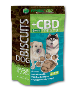 Hemp CBD Dog Treats   $23.98   One 4oz bag containing 25 treats. Each biscuit contains 4mg hemp CBD.  Suggested Use: 1-2 biscuits daily.
