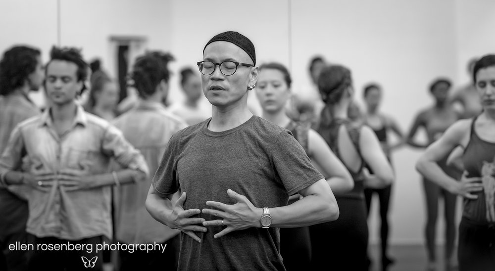 Photo of Kun-Yang's CHI Awareness Practice as part of the Company's 2017 Audition