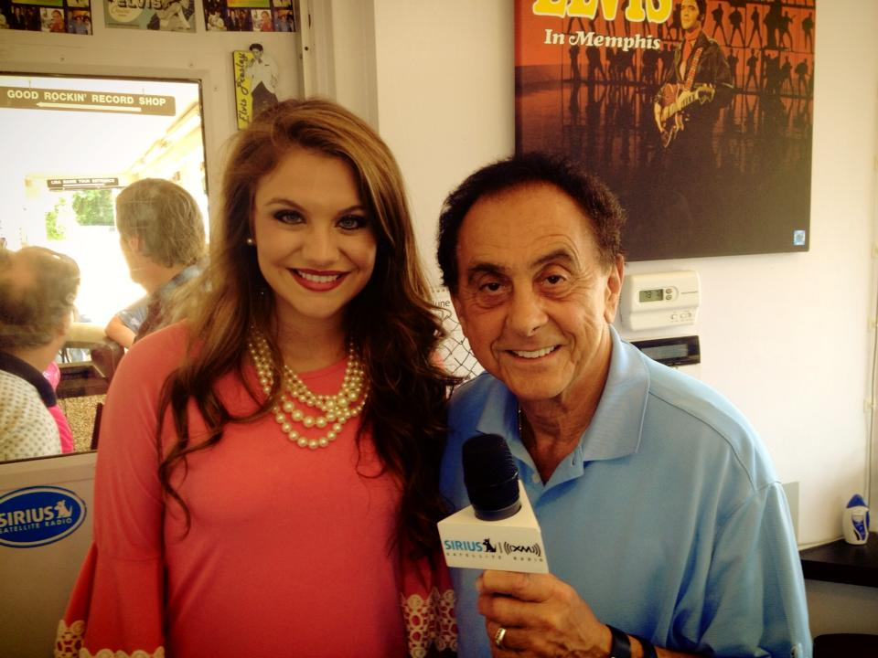 "Anna Catherine with George Klein from SiriusXM Channel 19 ""Elvis"""