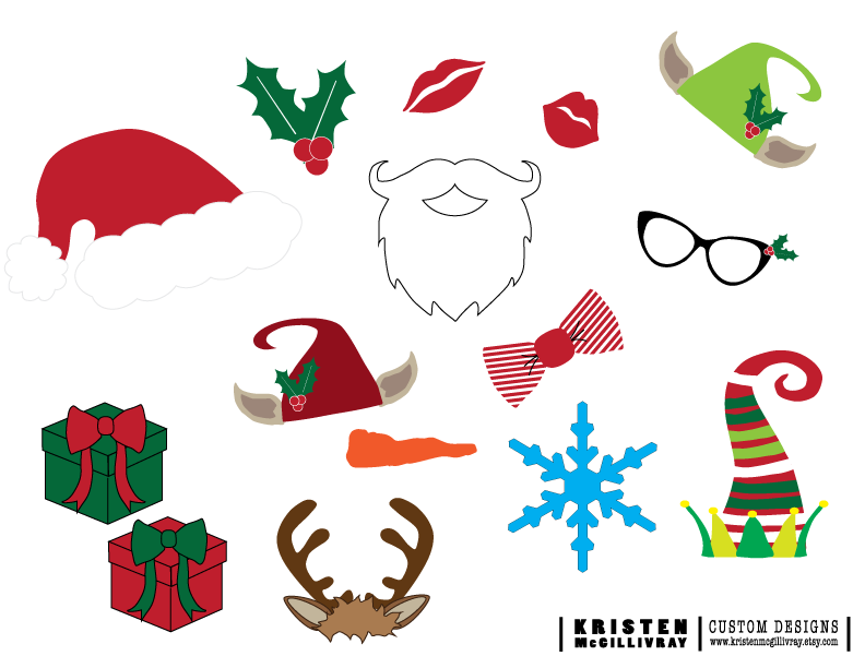Free christmas photobooth props — kristen mcgillivray