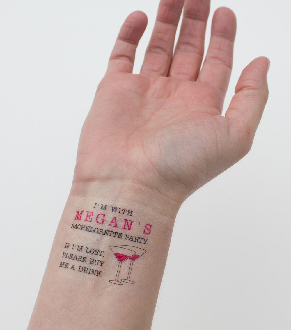 temporary tatts for your next bachelorette party