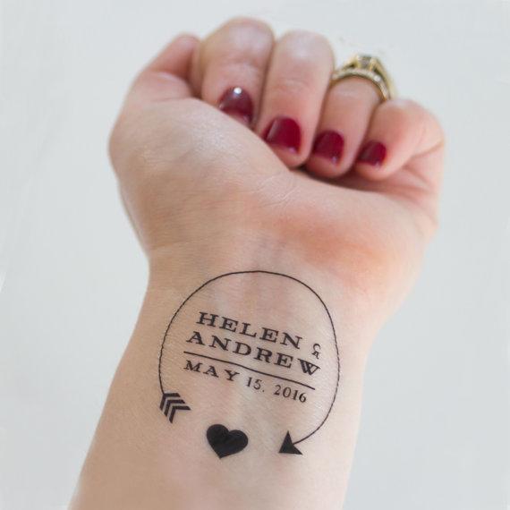 Personalized Arrow & Heart Temporary Tattoos — Kristen McGillivray