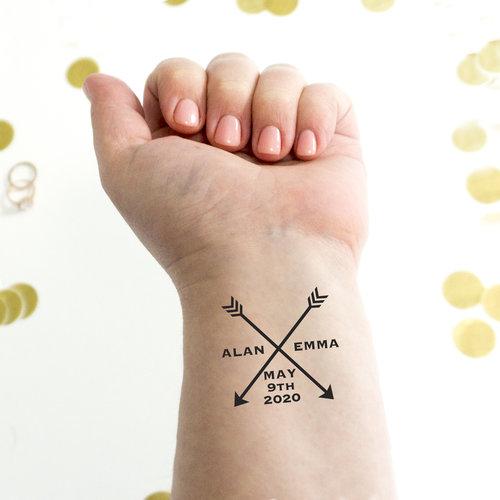 Arrow Wedding Temporary Tattoos — Kristen McGillivray