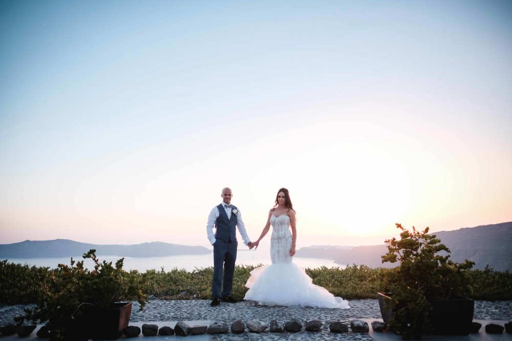 Mollie and Antony - Le Ceil - Santorini | Destination Wedding