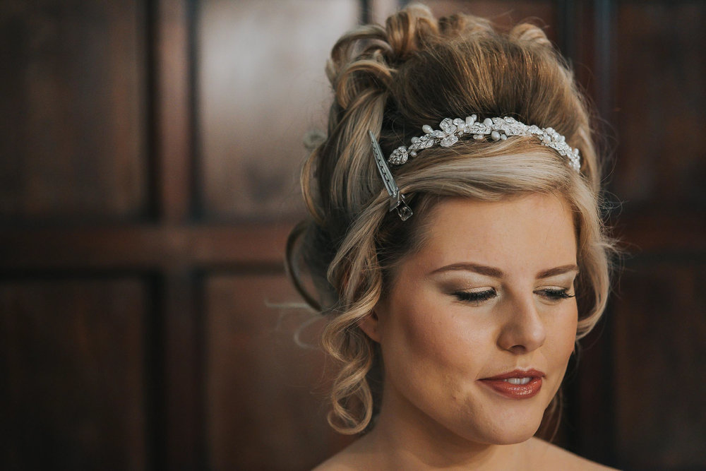 Shauna the bride during make up from Jeanette Flynn Make up Artist