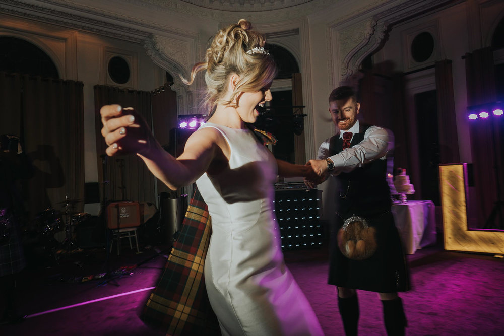 bride and groom during their first dance at the double tree by Hilton in Liverpool city centre