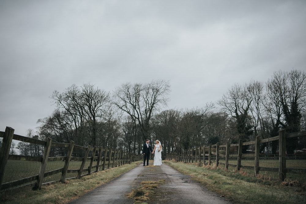 bridal and groom portrait  at The Villa in Wrea Green