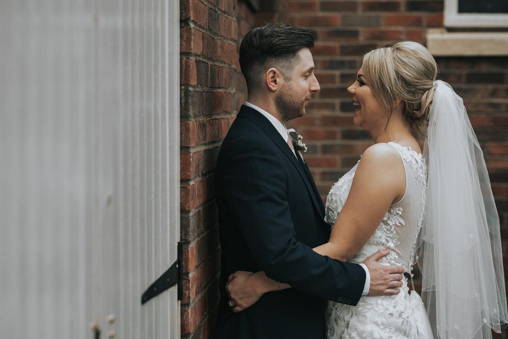 bride and groom enjoying their wedding day