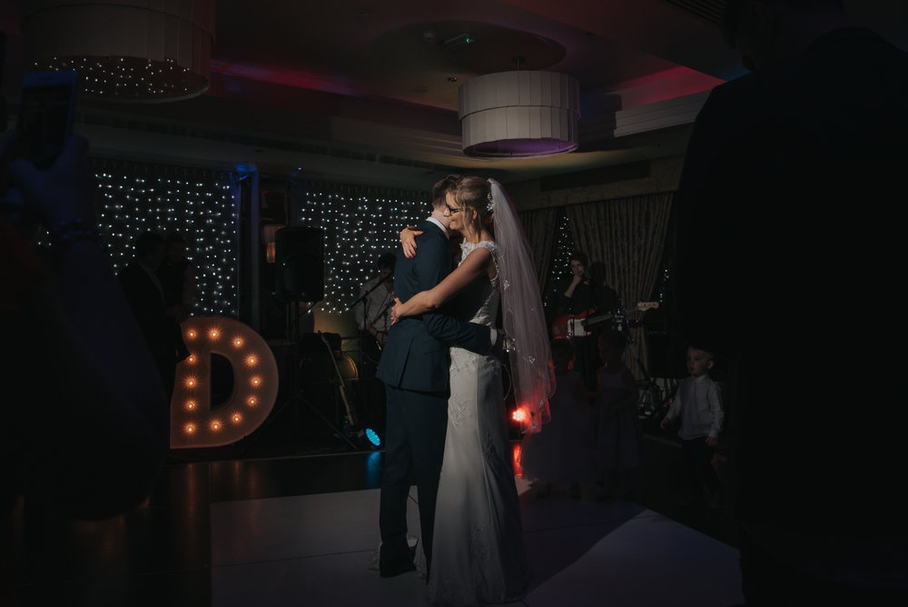 first dance for the bride and groom at the Grosvenor Pulford
