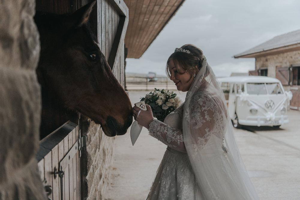 Bridal prep at Meadow Croft Farm in Bury