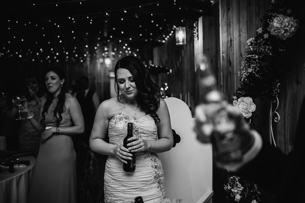 an emotional bride on her wedding day