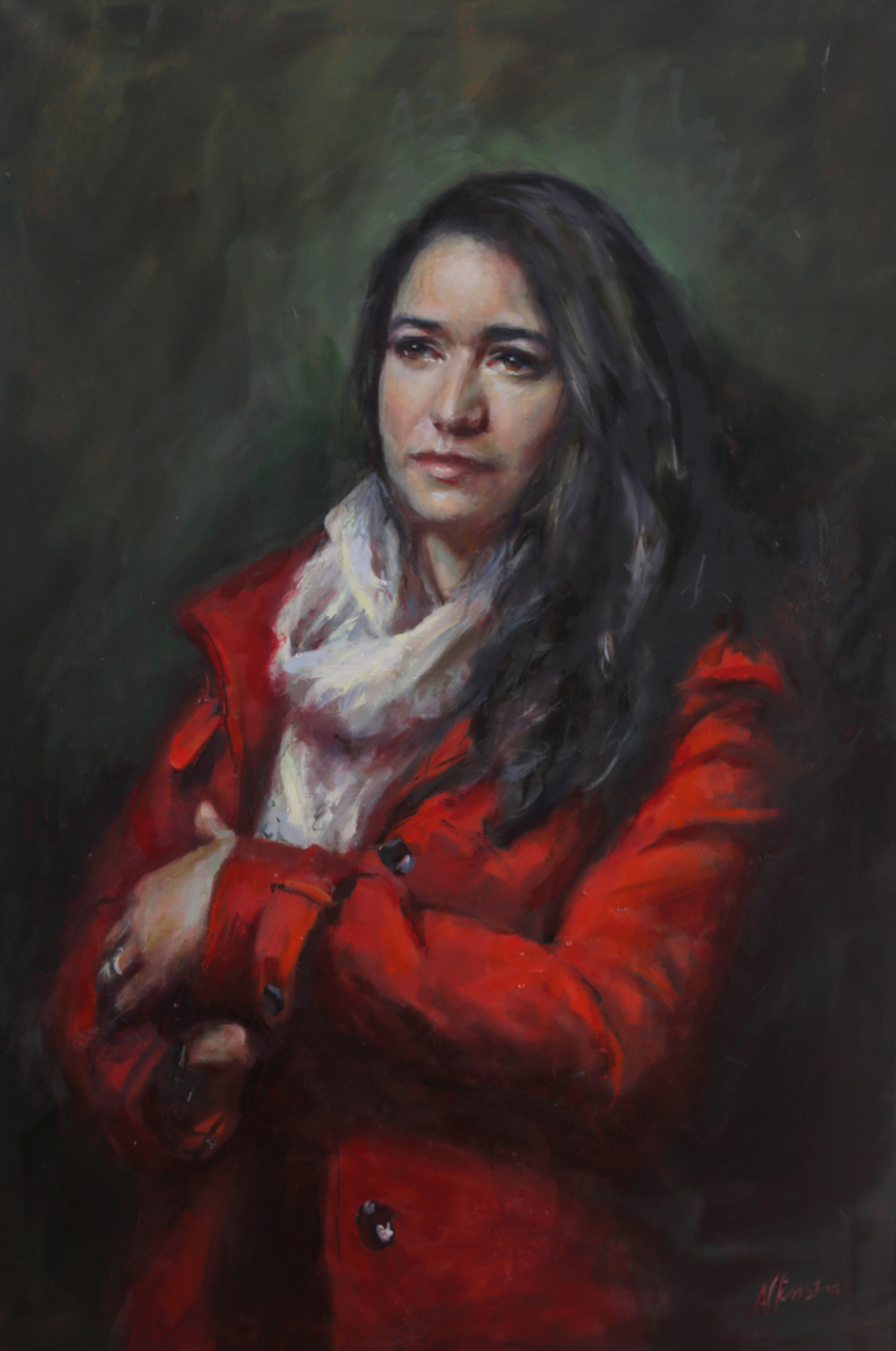 Self Portrait in red