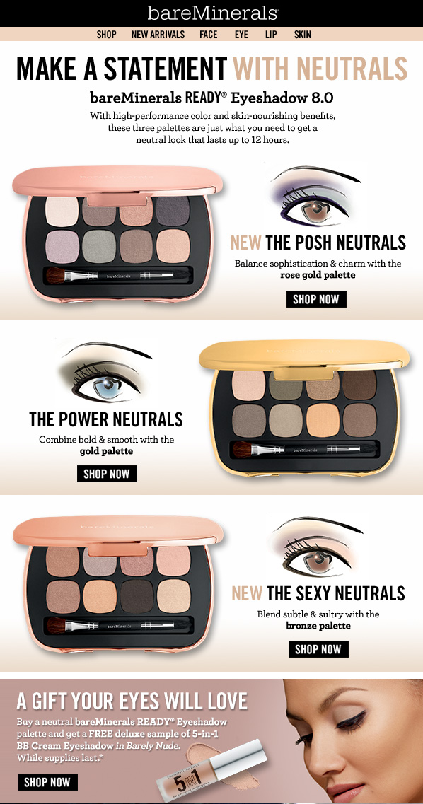 Neutral Eyeshadows Email