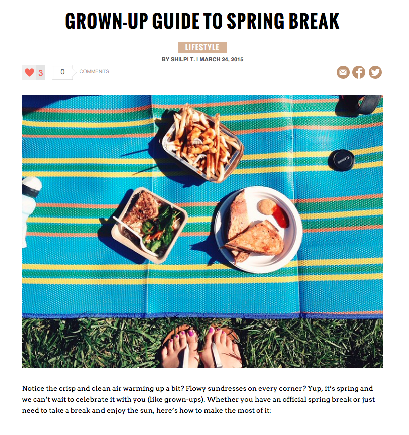 Grown-up Guide to Spring Break bareBlog post