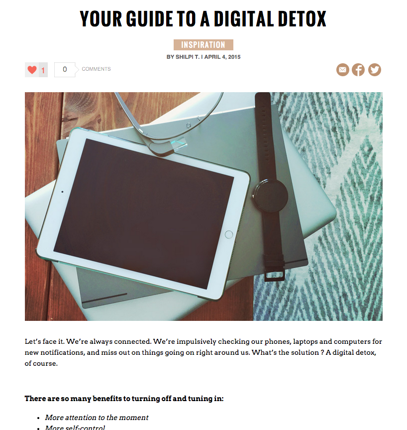Digital Detox bareBlog post
