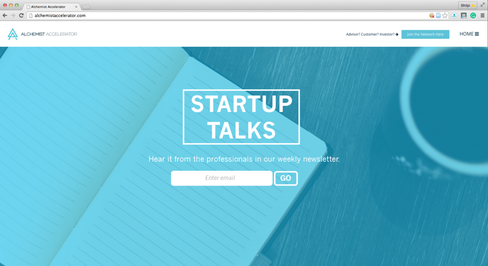 Created a Startup Talks for Alchemist for better conversion