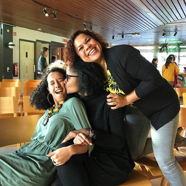 """Being together. Community. Coming home. Home is between people."" -Anousha Nzume, Ebissé Rouw, Mariam El Maslouhi (aka Dipsaus Podcast) • •  #theblackjoyproject #blackjoy #amsterdam #netherlands #diaspora #dutch #blackdutch #zwarte #readmyworld #africandiaspora #dipsaus"