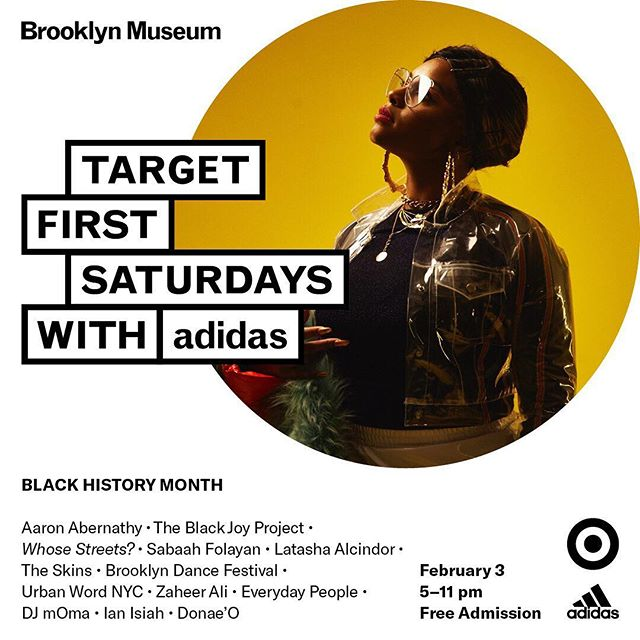 Mi gente, We have the excitement and honor to be a part of @brooklynmuseum's #FirstSaturdays TONIGHT for its Black History Month celebrations! Come thru at 6PM for a workshop and 7:30-9PM for a portrait w/ @sindayiganza!! COME THRU! #blackjoy #chooseblackjoy #theblackjoyproject