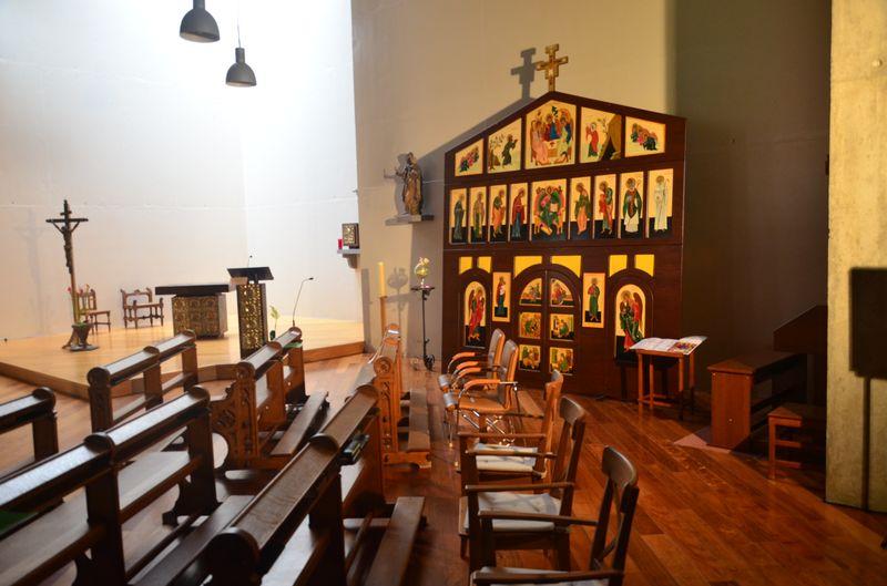 L'iconostase était présenté dans l'église