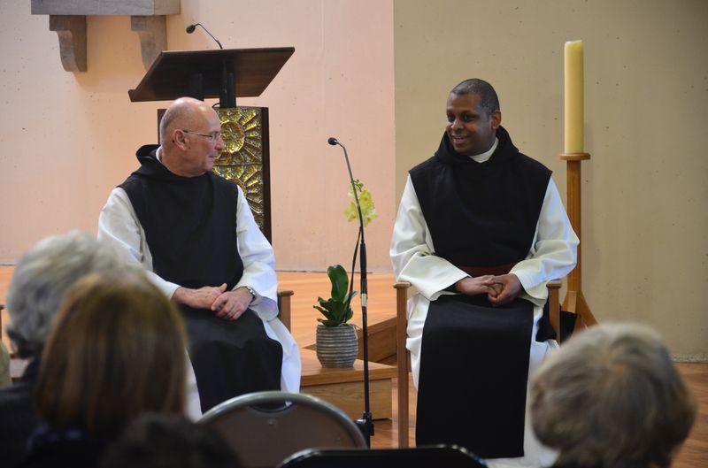 Fr Marc-André et Fr Oswaldo du Mont des Cats...