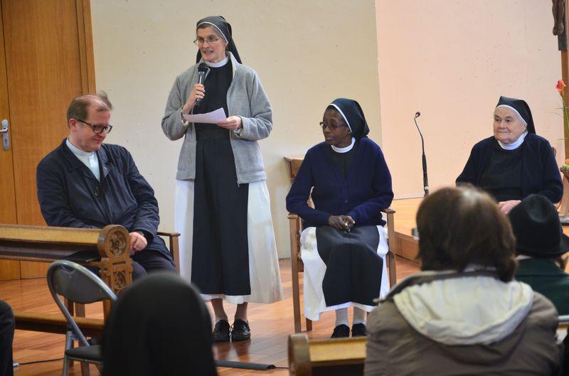 Deux soeurs Bernardines, sr Mie-Daphrose et sr St Augustin