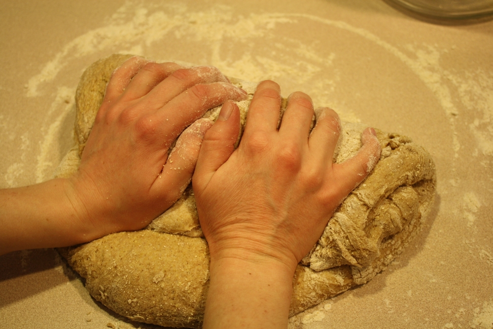 Knead the dough for a few minutes